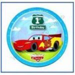 1st Birthday Pixar Cars Lunch Plates