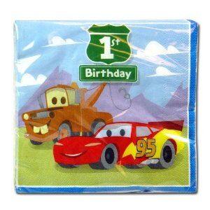 1st Birthday Pixar Cars Lunch Napkins