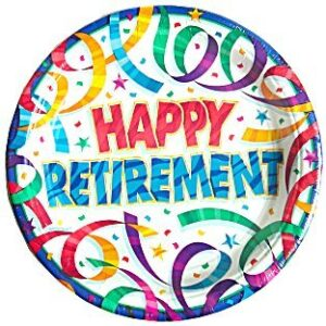 Happy Retirement Large Plates