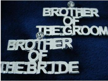 Bridal  Party  Pin Brother Of The Bride