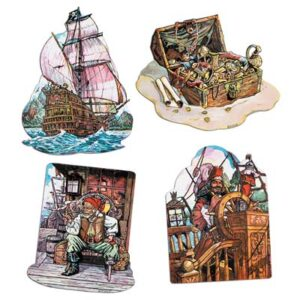 Cutouts Pirate  4ct