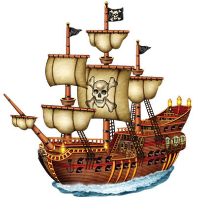 Decor Cutout Pirate  Ship