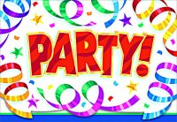 Party Streamers Invitations 8ct