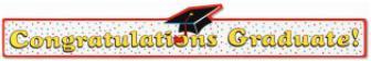 Banner Congratulations Graduate 35in