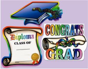Cutout Graduation Assorted
