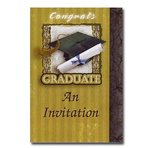 Golden Grad Invitation 8ct