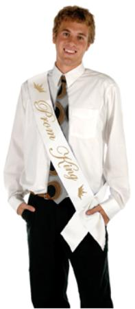 Prom King Sash Satin