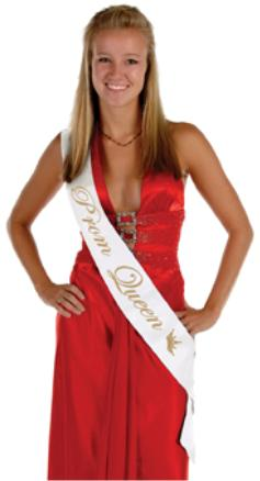 Prom Queen Sash Satin