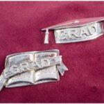 Gift Grad Silver Book Lapel Pin
