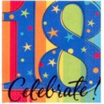A Year To  Celebrate  18th Beverage Napkins