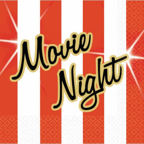 Hollywood Movie Night Beverage Napkins