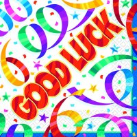 Tableware Party Streamers Good Luck  Lunch Napkins