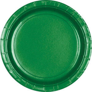 "Tableware Green Paper Plates 9""  24ct"