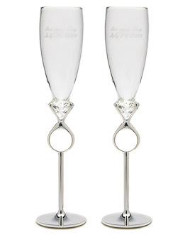 Champagne Flutes Diamond