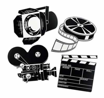 Cutouts Hollywood Movie Set 4ct