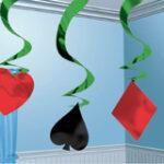 Casino Hanging Swirls Decor 5ct