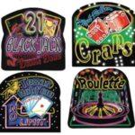 Casino Neon Sign Cutouts 4ct