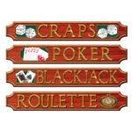 Casino Sign Cutouts 4ct