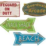 Cutout Beach Sign 4ct