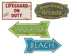 Cutout Beach Sign 4ct