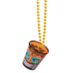 Luau  Shotglass On Beads Tiki