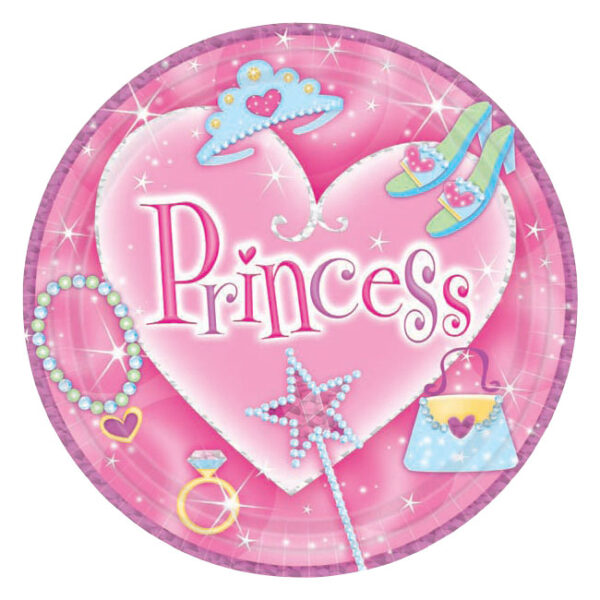 Princess Prismatic Lunch Plates