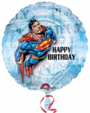 Superhero Balloon Superman 18in