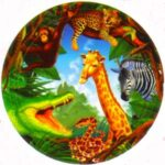 Jungle Safari Dessert Plates