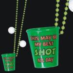 Golf Shot Glass On Beads