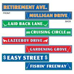 Happy Retirement Signs Cutout 4ct
