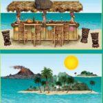 Decor luau Scene Setter Bar & island Prop