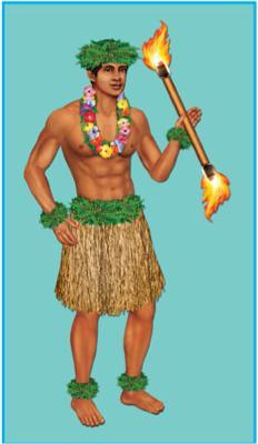 Cutout Luau  Male Dancer
