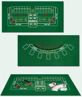 Casino Black Jack &Crap Felt Table top