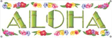 Banner Luau Aloha