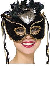 A Masquerade Mask Black Venetian