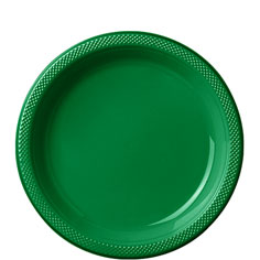 Tableware Green Plastic Plates 20ct