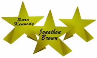 Star Place Cards 8ct