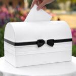 Card Box  Black Satin Ribbon