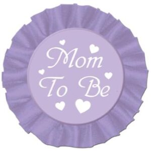 A Button Mom To Be Satin