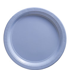 Blue Plastic Plates 20ct