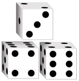 Casino Dice Favor Box 3 ct