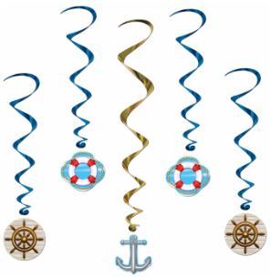 Nautical Decor Swirls 5ct
