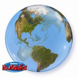 A Balloon Planet Earth see through