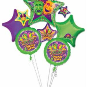 Balloon Bouquet Mardi Gras