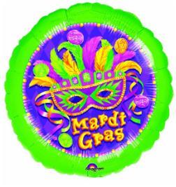 Balloon Mardi Gras  18in