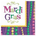 Tableware Mardi Gras Beverage Napkins 30ct