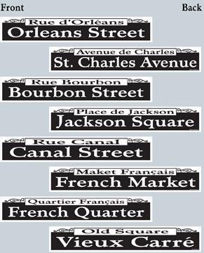 Decor Street Signs 4ct