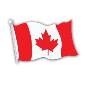 Canada flag Cutout 18″