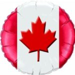 Canada Flag Balloon 18in Mylar