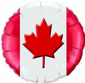 Canada Flag Balloon 18in Mylar